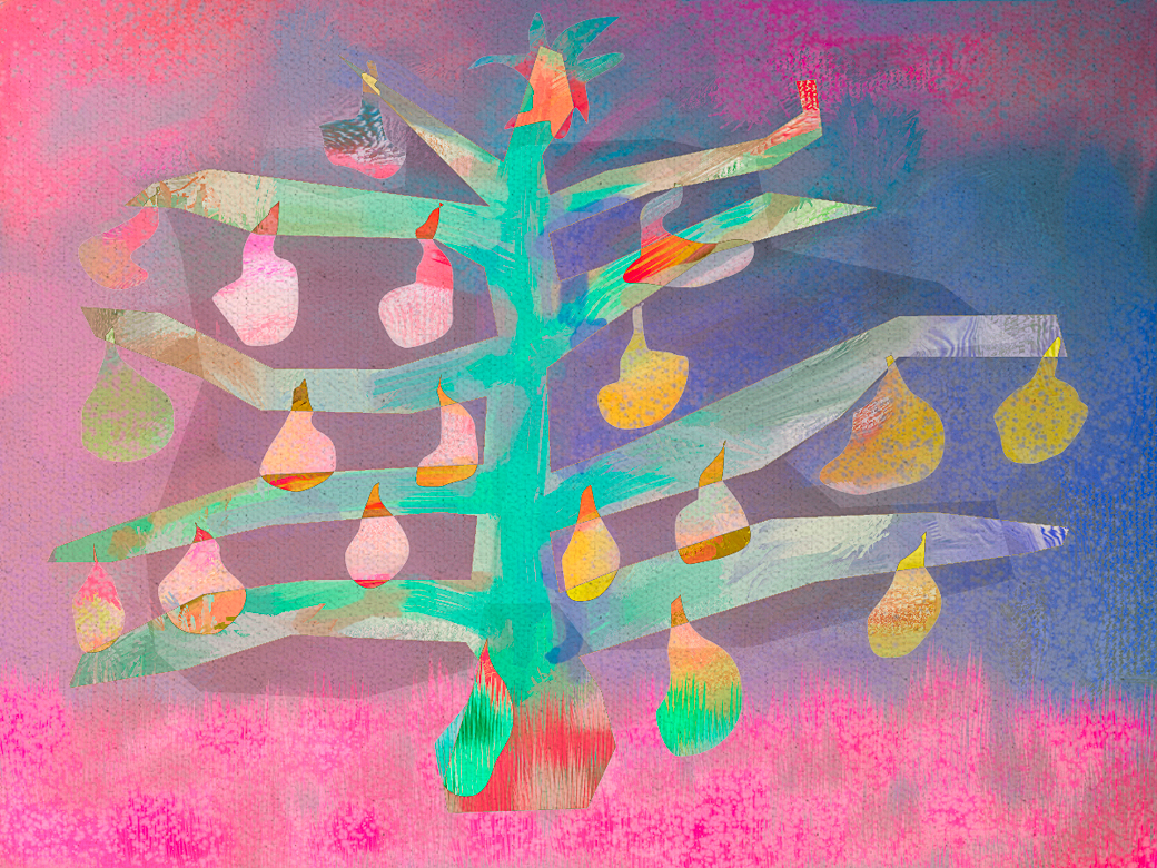 imaginary christmas tree