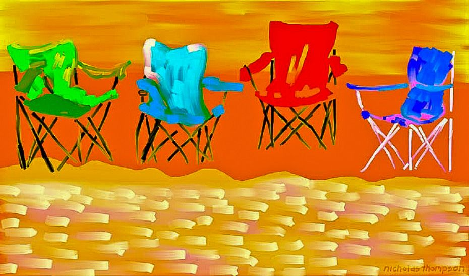 Four Beach Chairs