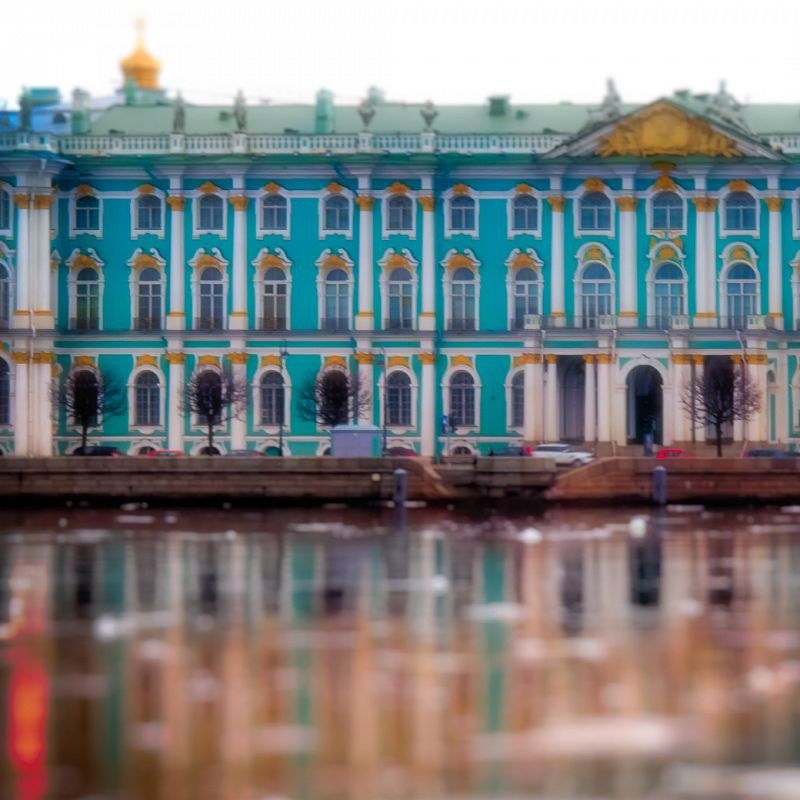 Blue Hermitage across the Neva / St Petersburg / April 24, 2012