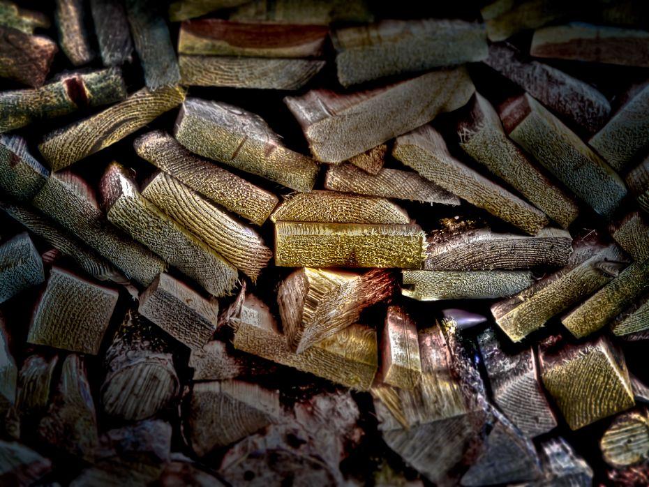 Sauna Stove Wood Pile Finland