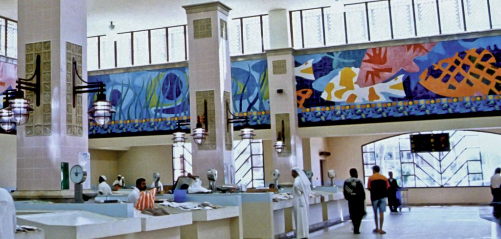 Hand Painted Glazed Tile Murals Al-Seef Markets Kuwait