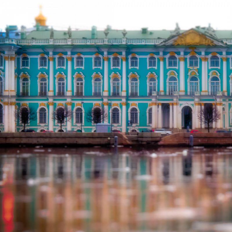 Blue Hermitage across the Neva / St Petersburg / April 24, 2012