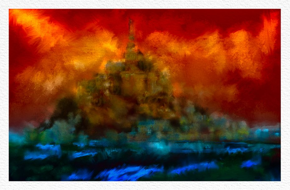 st michael's / france - photoshop painting from class project