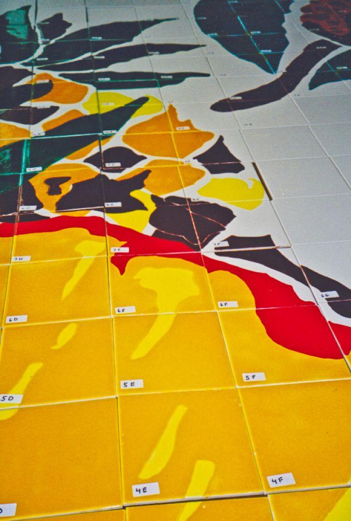 S-Mart Supermarkets / Juarez Mexico / Hand painted Glazed Tile Murals