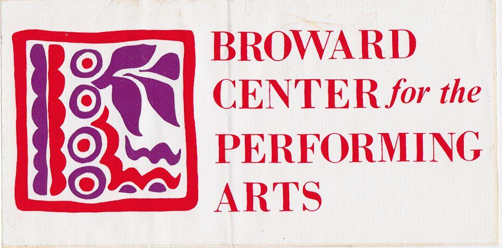 Broward Center / Promotional Bumper Sticker